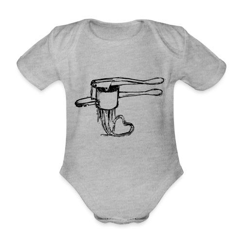 Spätzlepresse mit Herz - Baby Bio-Kurzarm-Body