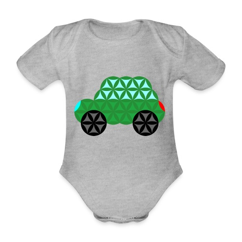 The Car Of Life - M02, Sacred Shapes, Green/363 - Organic Short-sleeved Baby Bodysuit