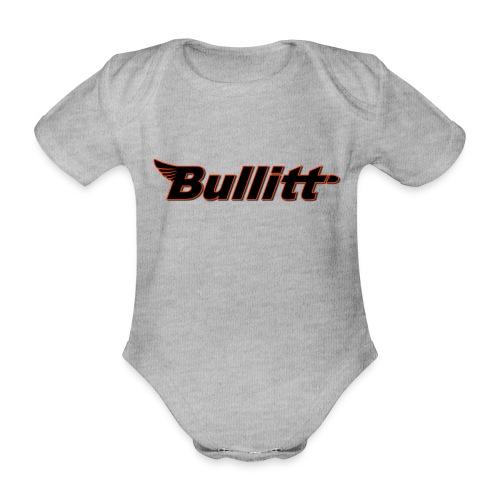 BullittLogo png - Organic Short-sleeved Baby Bodysuit