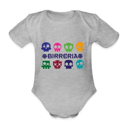 Kids color Skulls - Baby Bio-Kurzarm-Body