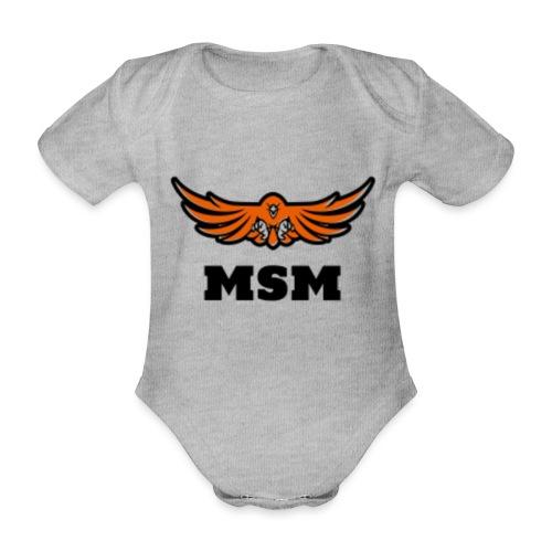 MSM EAGLE - Kortærmet babybody, økologisk bomuld
