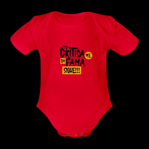 CRITICA - Body orgánico de maga corta para bebé