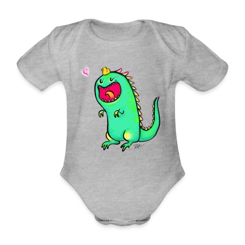 Happy Dinosaurier - Baby Bio-Kurzarm-Body
