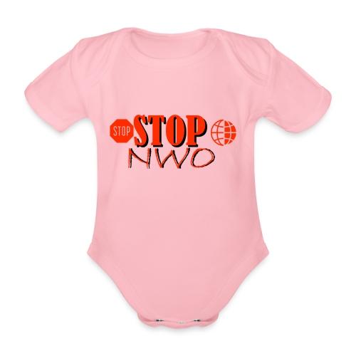 STOPNWO1 - Ekologiczne body niemowlęce z krótkim rękawem