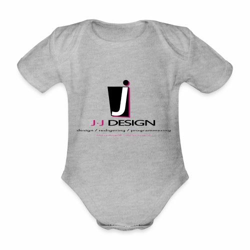 LOGO_J-J_DESIGN_FULL_for_ - Kortærmet babybody, økologisk bomuld