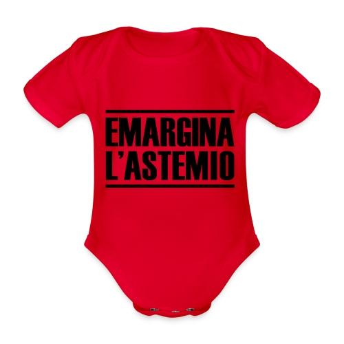emargina l'astemio - Body ecologico per neonato a manica corta