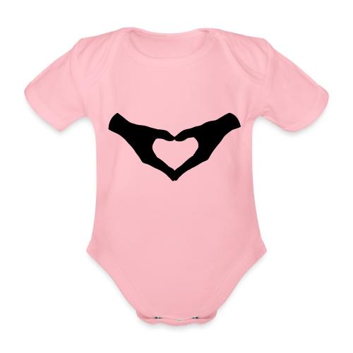 Herz Hände / Hand Heart 2 - Baby Bio-Kurzarm-Body
