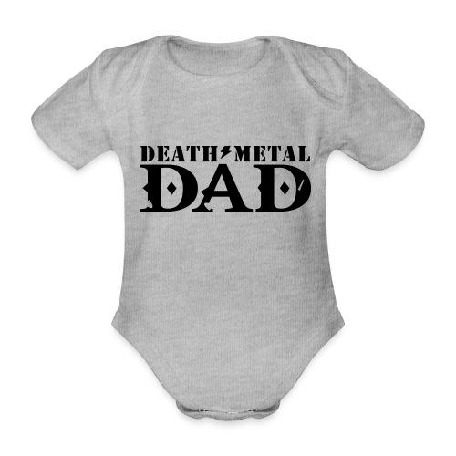 death metal dad - Baby bio-rompertje met korte mouwen