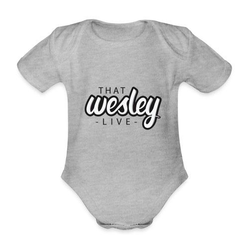 ThatWesleyLOGO 3 4 png - Baby bio-rompertje met korte mouwen