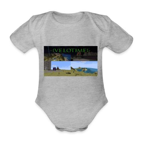 Velotime! - Ekologisk kortärmad babybody