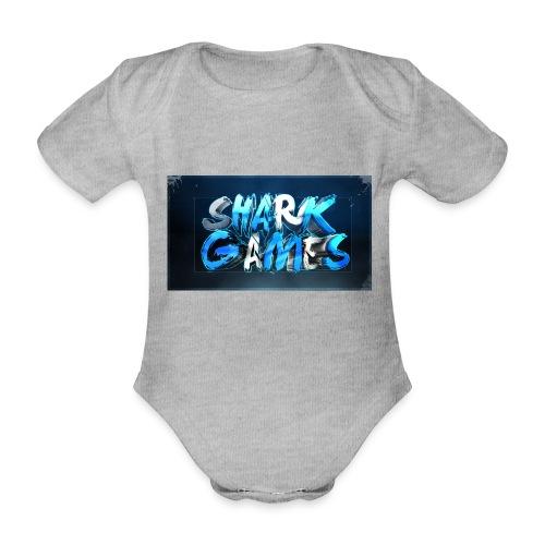 SharkGames - Body ecologico per neonato a manica corta
