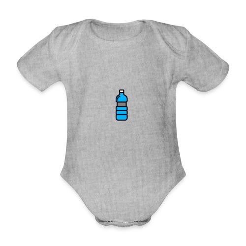 Bottlenet Tshirt Grijs - Baby bio-rompertje met korte mouwen