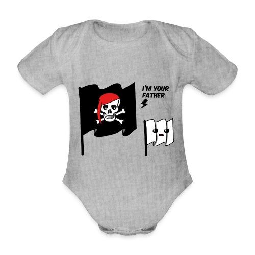 i'm your father flag - Body ecologico per neonato a manica corta