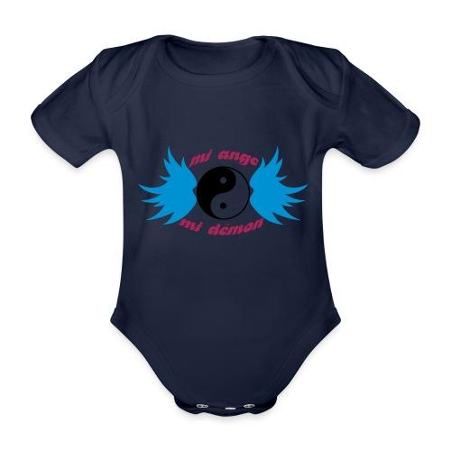 Débardeur Bio Femme Mi ange Mi démon - Organic Short-sleeved Baby Bodysuit