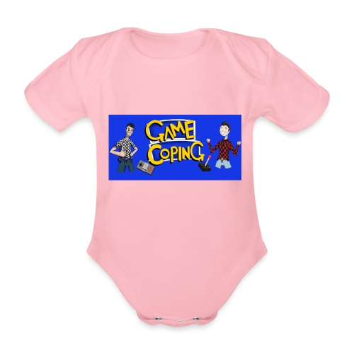 Game Coping Happy Banner - Organic Short-sleeved Baby Bodysuit
