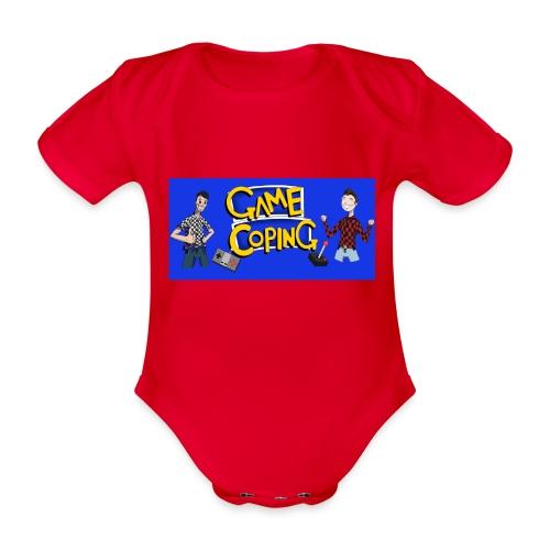 Game Coping Happy Banner - Organic Short-sleeved Baby Bodysuit