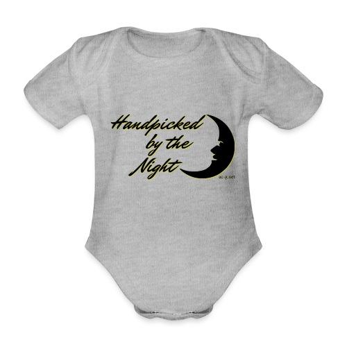Handpicked design By The Night - Logo Black - Organic Short-sleeved Baby Bodysuit
