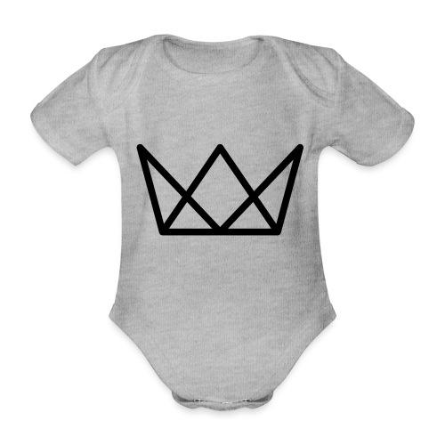 TKG Krone schwarz CMYK - Baby Bio-Kurzarm-Body