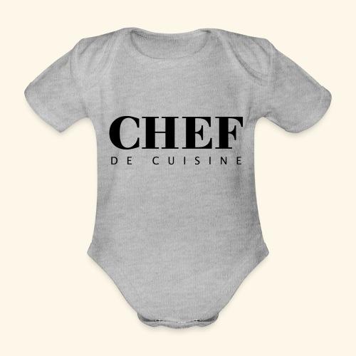 BOSS de cuisine - logotype - Organic Short-sleeved Baby Bodysuit