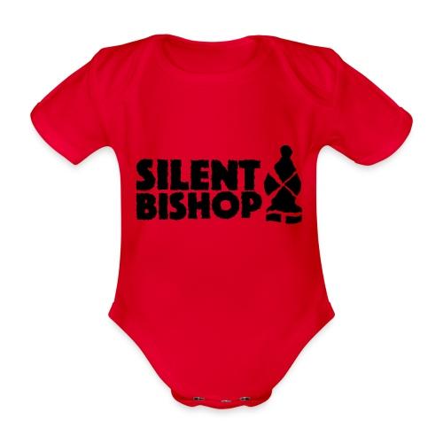 Silent Bishop Logo Groot - Baby bio-rompertje met korte mouwen