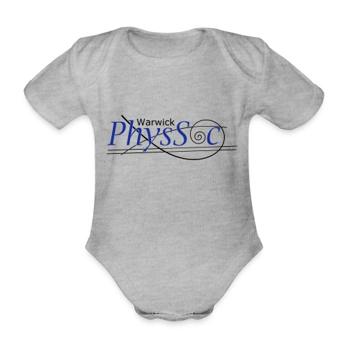 Official Warwick PhysSoc T Shirt - Organic Short-sleeved Baby Bodysuit