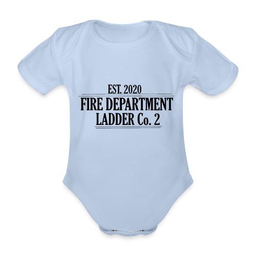 Fire Department - Ladder Co.2 - Kortærmet babybody, økologisk bomuld