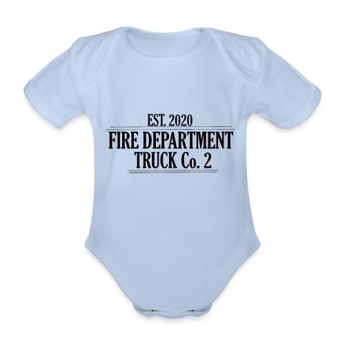 Truck Co.2 - BLACK - Kortærmet babybody, økologisk bomuld