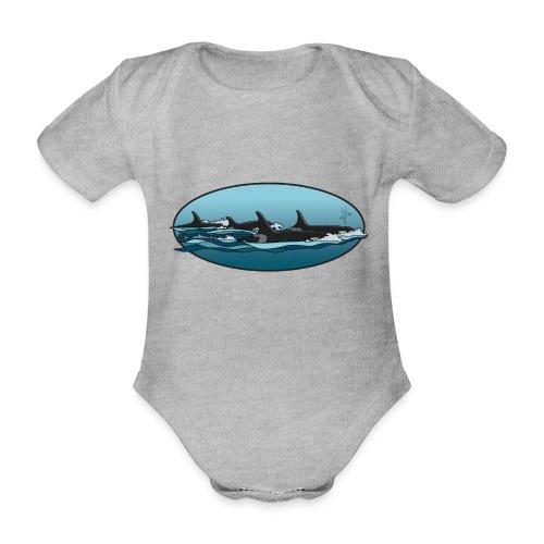 Orca - Baby bio-rompertje met korte mouwen