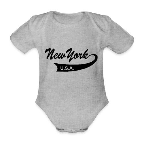 New York USA - Baby Bio-Kurzarm-Body