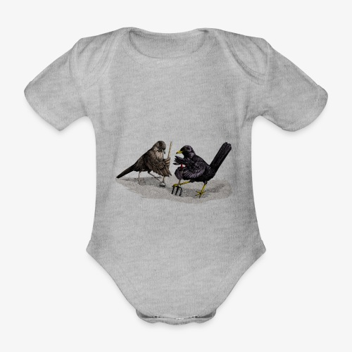 Blackbirds Gardeners - Organic Short-sleeved Baby Bodysuit