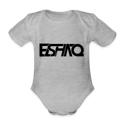 elshaq black - Organic Short-sleeved Baby Bodysuit