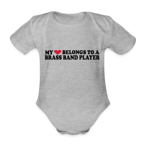 MY HEART BELONGS TO A BRASS BAND PLAYER - Økologisk kortermet baby-body