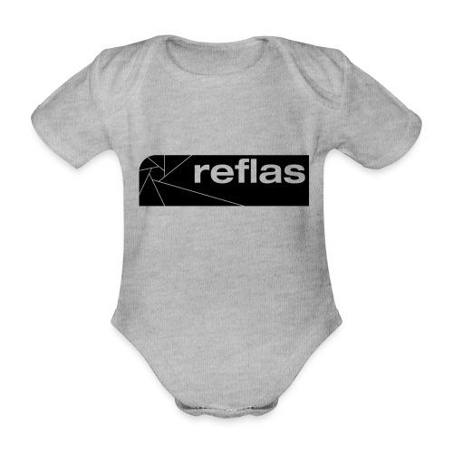 Reflas Clothing Black/Gray - Body ecologico per neonato a manica corta