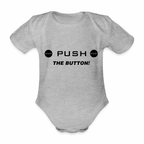 Push The Button - Baby Bio-Kurzarm-Body