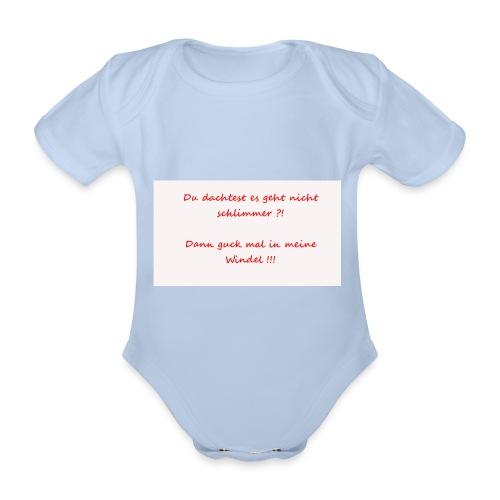 Windelspruch - Baby Bio-Kurzarm-Body
