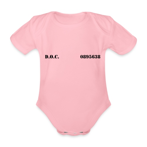 Department of Corrections (D.O.C.) 2 front - Baby Bio-Kurzarm-Body