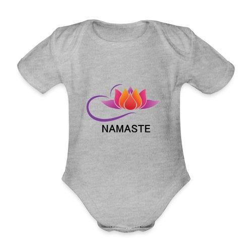 NAMASTE - Body orgánico de manga corta para bebé