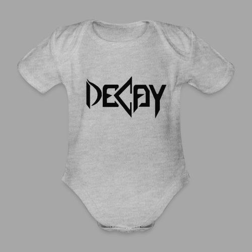 Zwart Logo - Baby bio-rompertje met korte mouwen