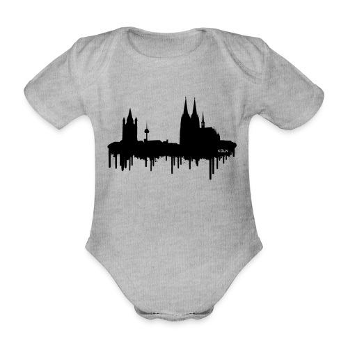Skyline Köln - Schwarz - Baby Bio-Kurzarm-Body