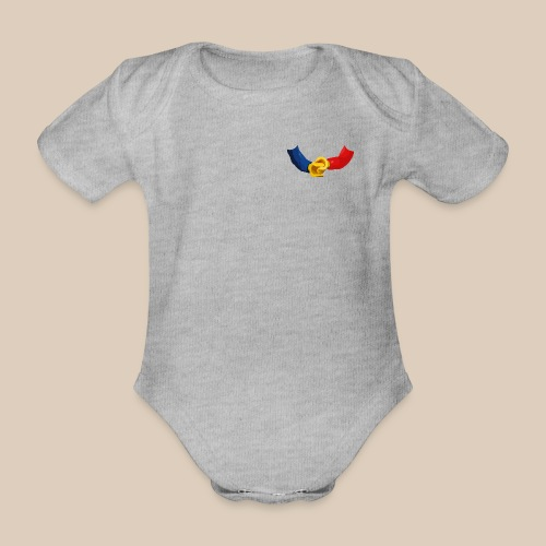 Minifigurines en briques qui se tiennent la main - Body bébé bio manches courtes