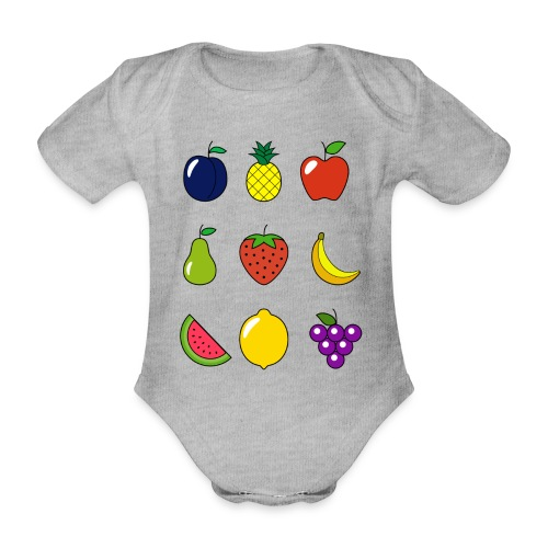 Fruit Collection - Organic Short-sleeved Baby Bodysuit