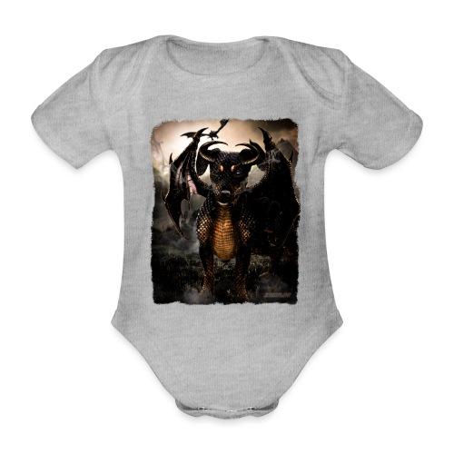 Canis Draconi Terrier - Baby bio-rompertje met korte mouwen