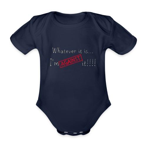 Against it - Organic Short-sleeved Baby Bodysuit