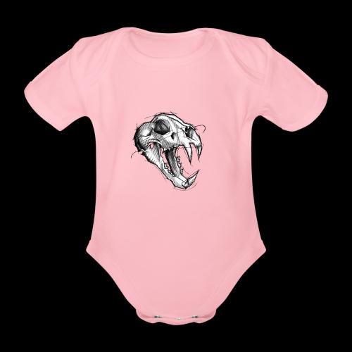 Teschio Tigre - Body ecologico per neonato a manica corta
