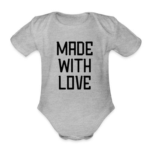 Made with love - Baby bio-rompertje met korte mouwen