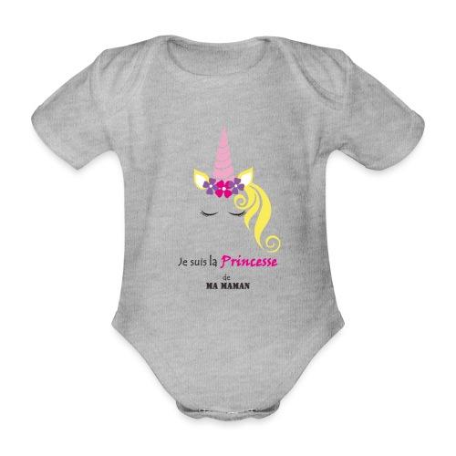 princesse de maman2 - Body Bébé bio manches courtes