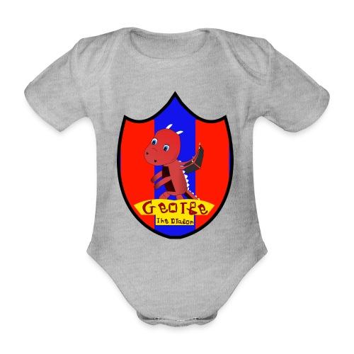 George The Dragon - Organic Short-sleeved Baby Bodysuit