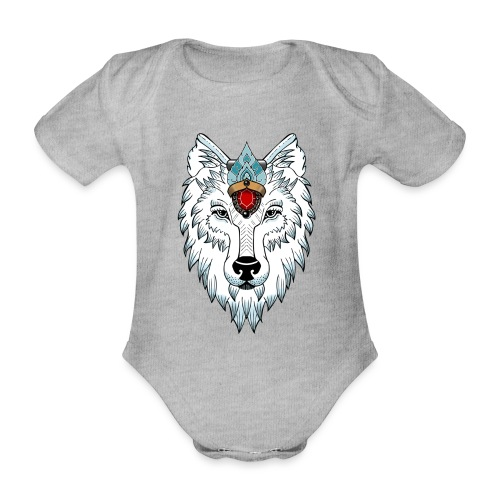 female wolf newschool - Body Bébé bio manches courtes