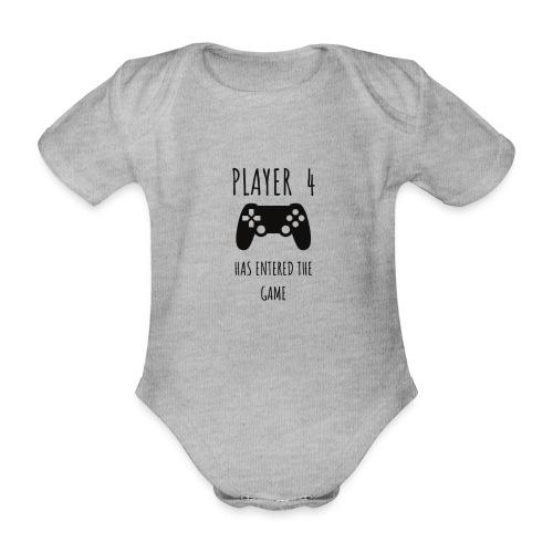 Player 4 - Organic Short-sleeved Baby Bodysuit