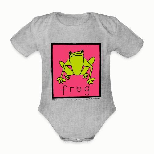 frog 90's Bang On The Door - Organic Short-sleeved Baby Bodysuit